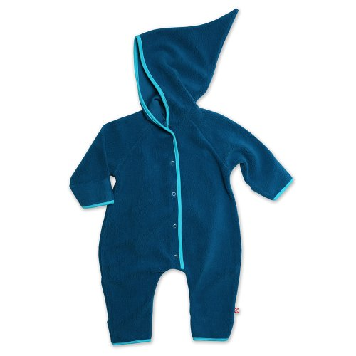 Toddler 2T Zutano Little Boys Cozie Fleece Contrast Hoodie - Navy