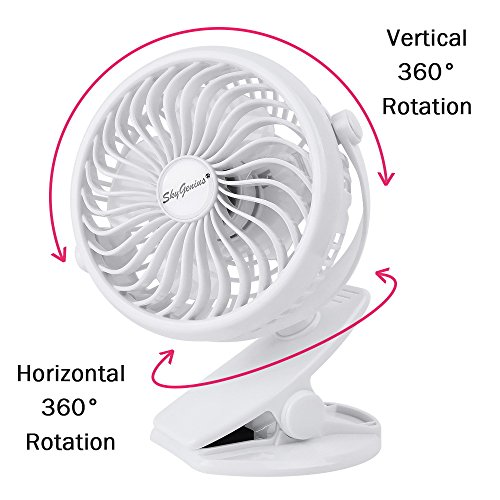 Battery Operated Clip On Fan For Baby Stroller Car Back