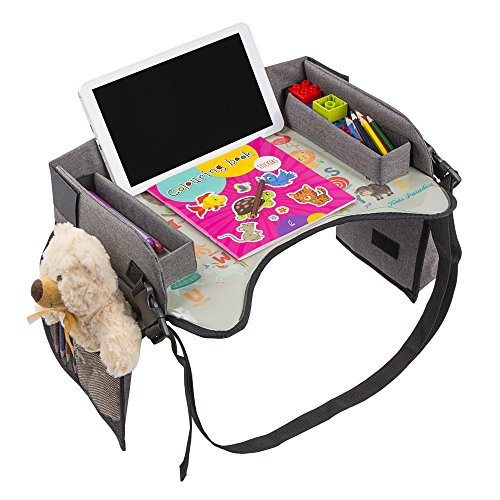 Kids Travel Tray With Erasable Surface For Car Seat