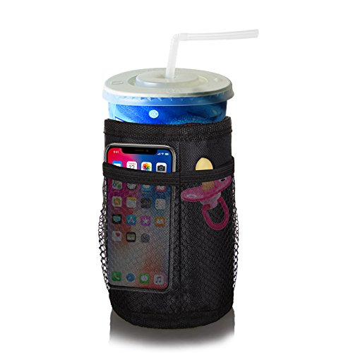 Insulated Stroller Cup Holder Waterproof Attachable