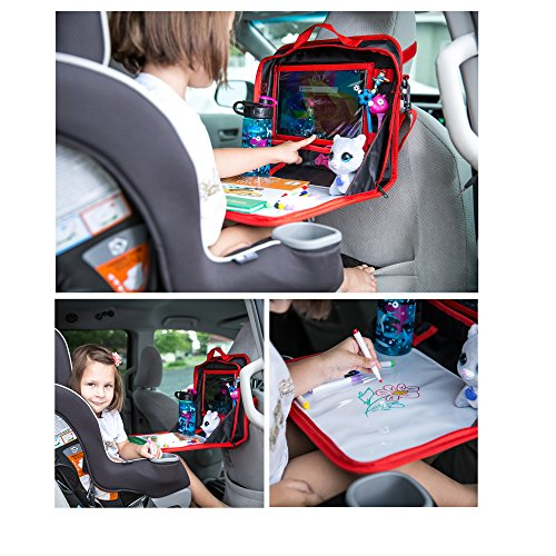 Back Seat Car Organizer And Kids Travel Tray Table Ipad