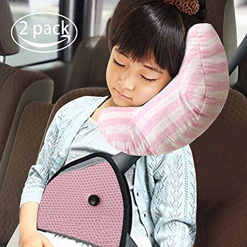 Car Seat Travel Pillow Neck Support Cushion Pad And Seatbelt Adjuster For Kids Balight