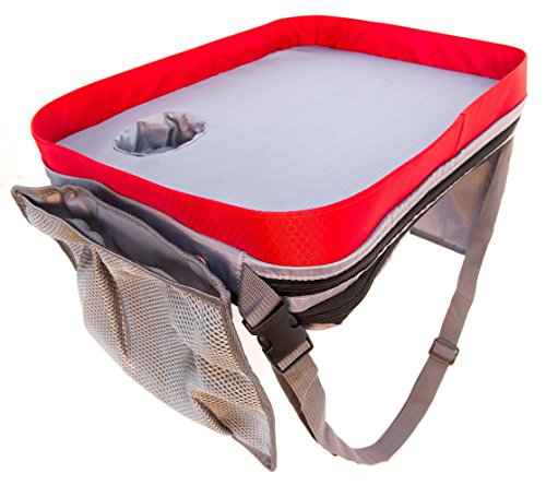 Kids Car Seat Travel Lap Tray For Snack And Play Easy To Clean Activity Table With Cup Holder And Removable Strap Sturdy Toddler Lap Desk