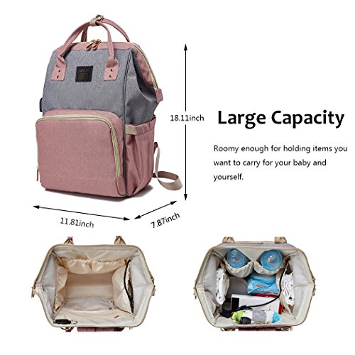 Babymemory Diaper Bag Multi Functional Mommy Backpack