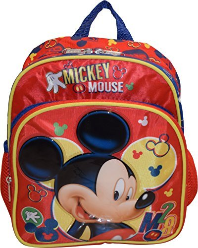 8a09f5a64a87 Disney Mickey Mouse Deluxe 10″ Mini School Bag Backpack | Baby Care 24/7