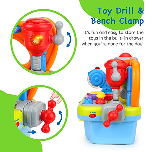 Toyk baby toys Multifunctional music Toolbox Learn ...