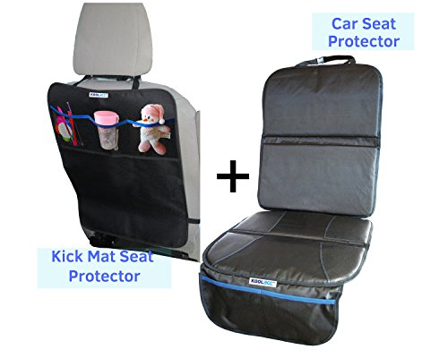 Car Seat Protector Kick Mat Back Set Perfect CarSeat Fits Under Baby Child Or Dogs Cover Pad Protects Vehicle
